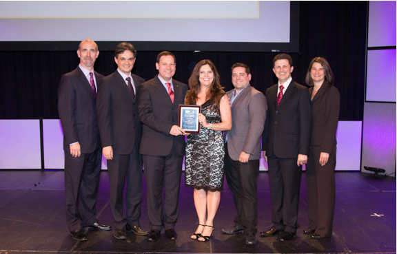 Representantes do PMI-RS receberam o prêmio