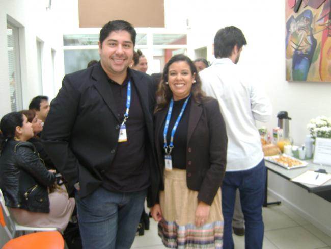 Alex Rosa e Larissa Barônio apresentaram os eventos do PMI-RS